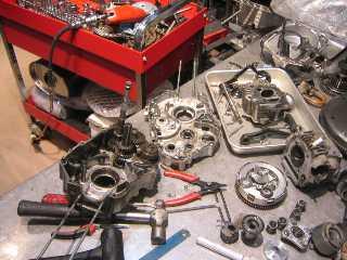 モンキーエンジンのチューニング&組み付け