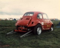 "The Wick brothers were out with their VW powered Fiat ""Lil' Bug"""